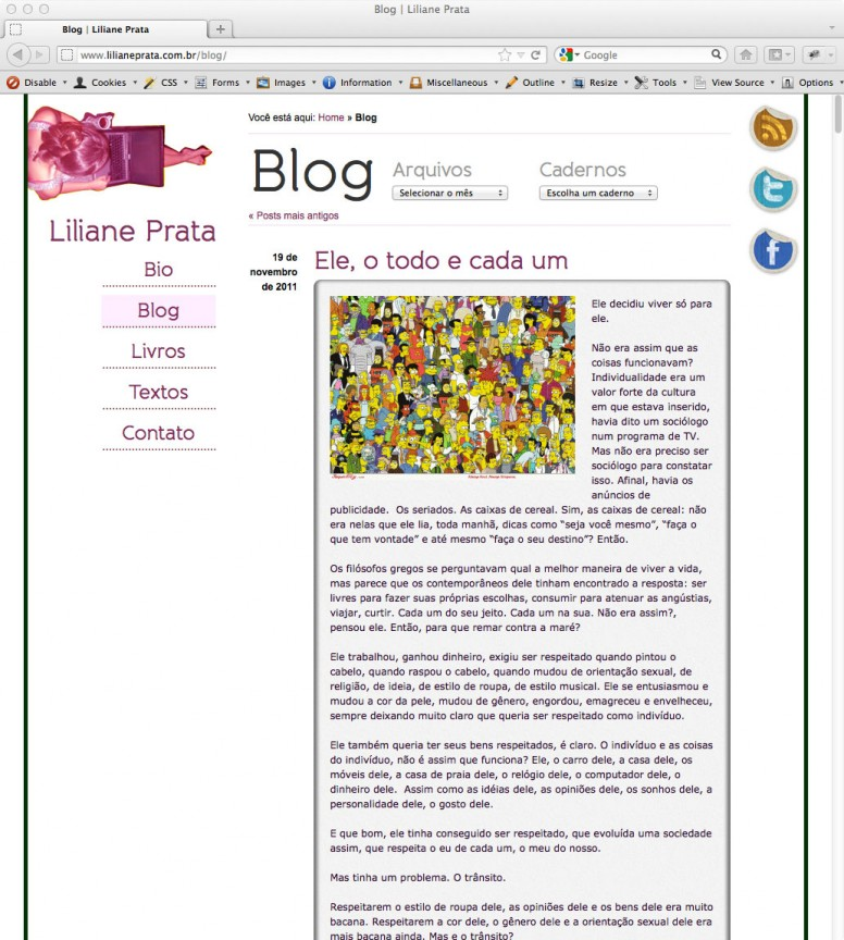 Liliane Prata - Blog